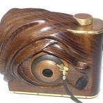 Jeszcze jeden drewniak, nazywam ten aparat dłubanką, gdyż w całości mój syn Michał,wyrzeźbił go z kawałka jesionu - uratowanego przed kominkową egzekucją.
